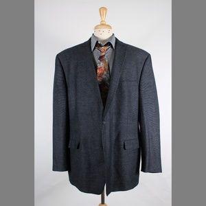 #CalvinKlein 52R Gray Wool 2B Sport Coat 71-L